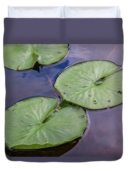 Lily Pad Reflections Duvet Cover