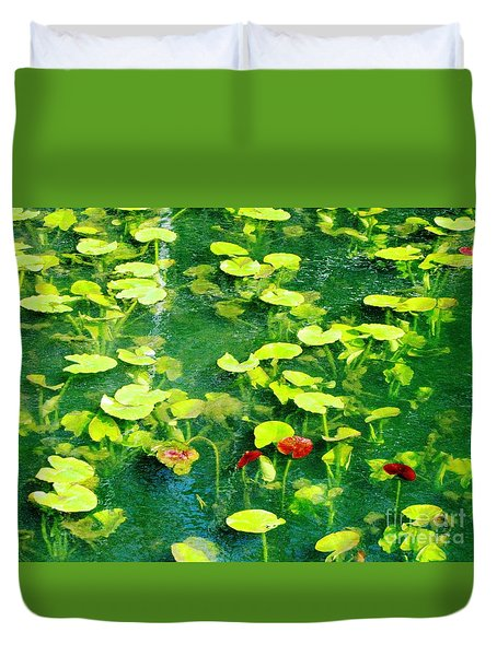 Duvet Cover featuring the photograph Lily Pads by Melissa Stoudt