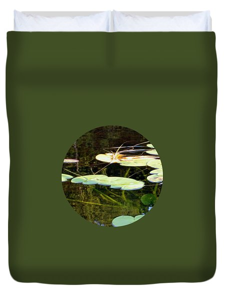 Lily Pads On The Lake Duvet Cover