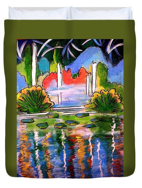 Lily Pond 2 Duvet Cover