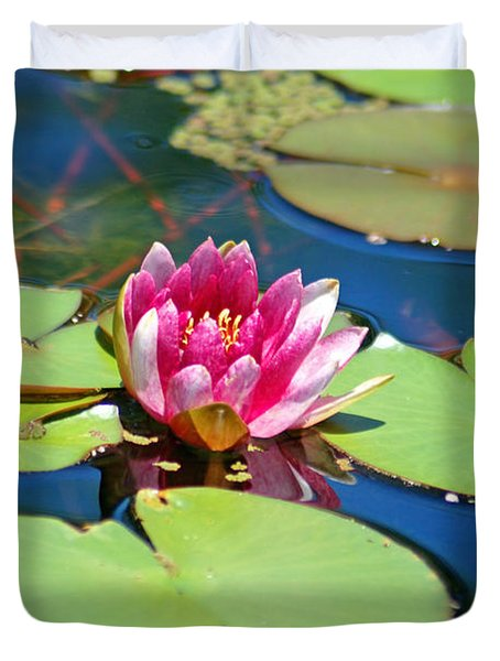 Lily Pond Duvet Cover by Donna Bentley