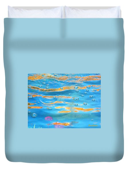 Lily Pool's Enchanted Moment Duvet Cover