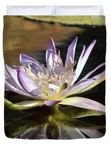 Lily Reflections Duvet Cover