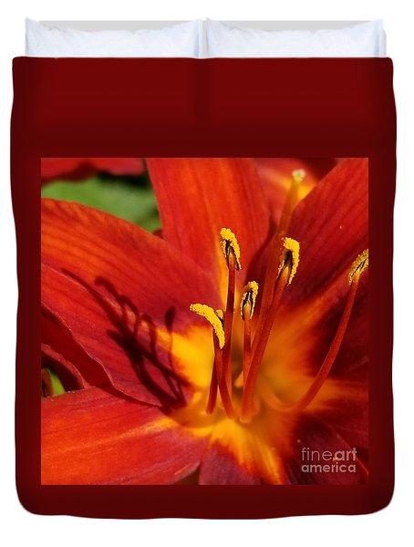 Lily Shadows Duvet Cover