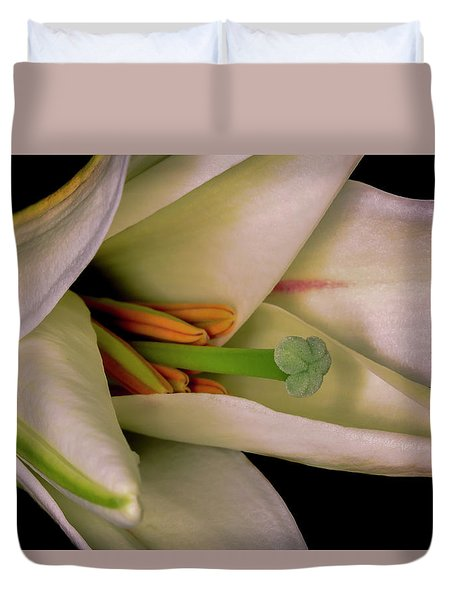 Lily White Duvet Cover by Roy McPeak