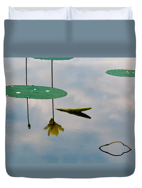 Lily's Reflection Duvet Cover by Carolyn Dalessandro