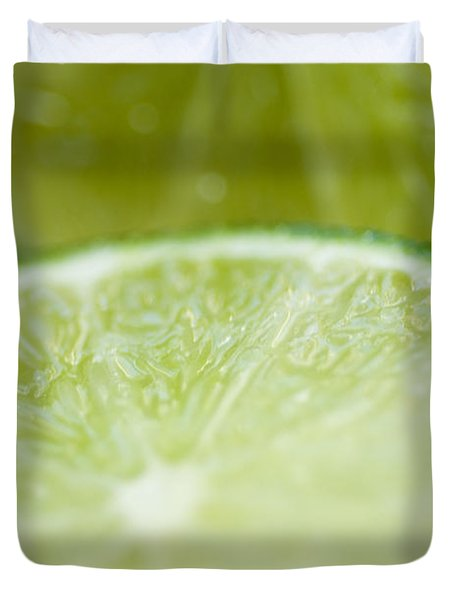Lime Cut Duvet Cover by Ray Laskowitz - Printscapes