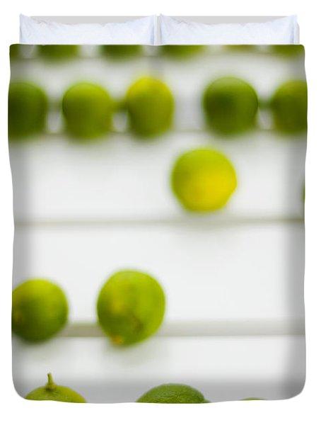 Lime Green Duvet Cover by Skip Hunt