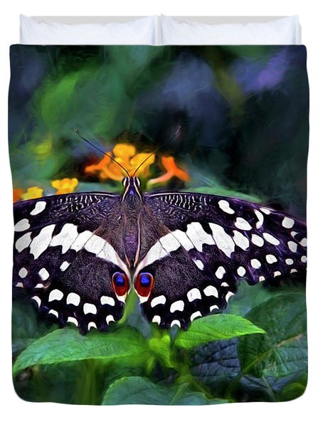 Lime Swallow Tail Duvet Cover