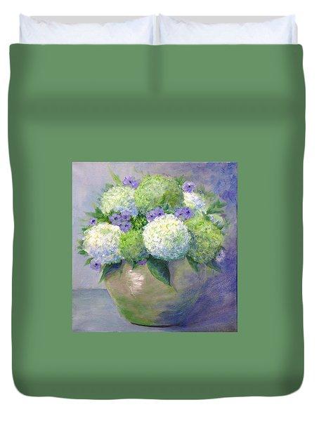 Limelight Duvet Cover by T Fry-Green