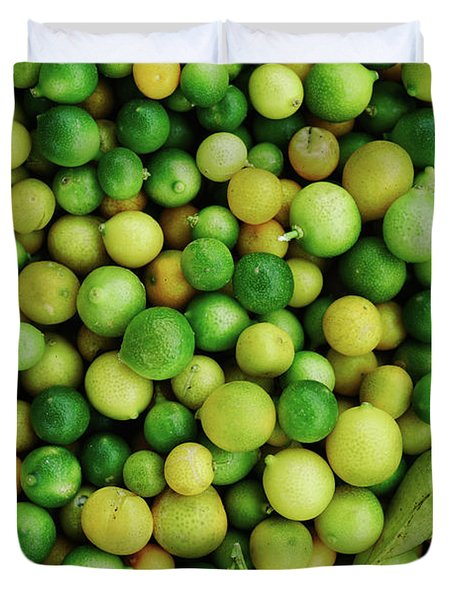 Limes Duvet Cover by Happy Home Artistry