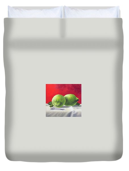 Limes Duvet Cover by Tim Johnson