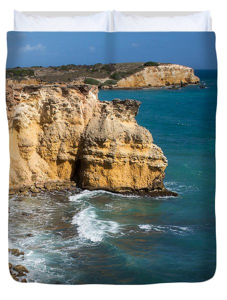 Limestone Cliffs Of Cabo Rojo Duvet Cover