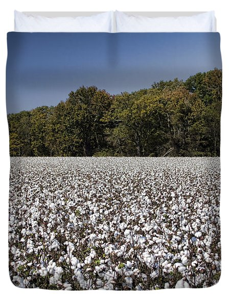 Limestone County Alabama Cotton Crop Duvet Cover