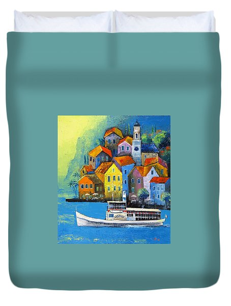 Duvet Cover featuring the painting Limone by Mikhail Zarovny