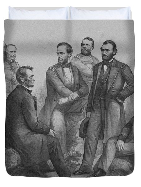 Lincoln And His Generals Duvet Cover