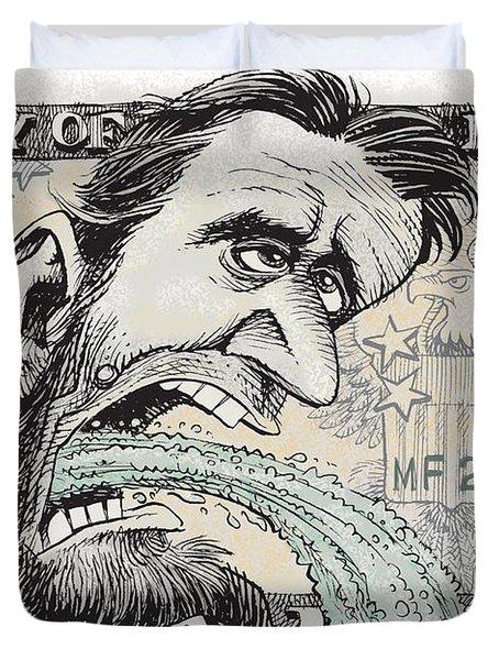 Lincoln Barfs Duvet Cover