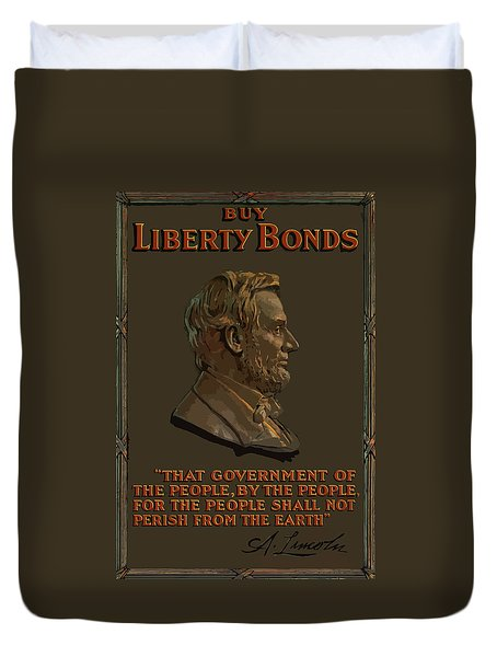 Lincoln Gettysburg Address Quote Duvet Cover