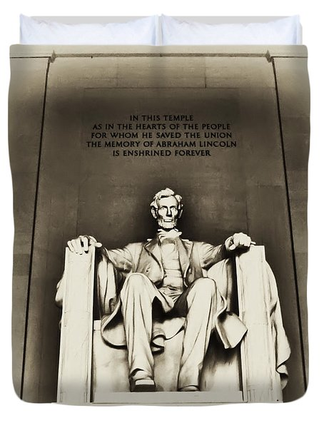 Lincoln Memorial Duvet Cover by Bill Cannon