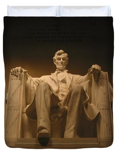Duvet Cover featuring the photograph Lincoln Memorial by Brian McDunn