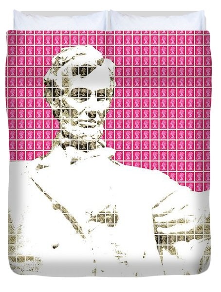 Lincoln Memorial - Pink Duvet Cover