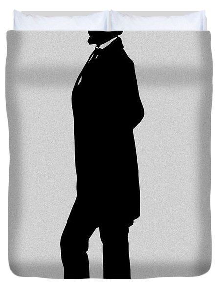 Lincoln Silhouette And Signature Duvet Cover