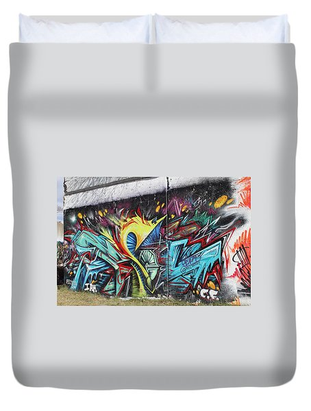 Duvet Cover featuring the painting Lincoln Street by Sheila Mcdonald
