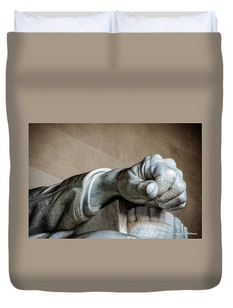 Lincoln's Left Hand Duvet Cover by Christopher Holmes
