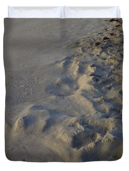 Line In The Sand Duvet Cover by Richard Barone