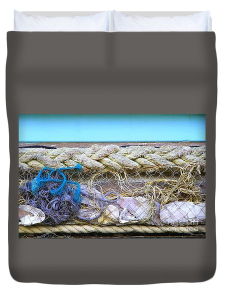 Duvet Cover featuring the photograph Line Of Debris II by Stephen Mitchell