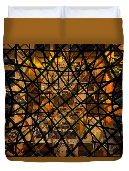 Linear Contingency Duvet Cover by Don Gradner