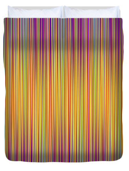 Duvet Cover featuring the digital art Lines 102 by Bruce Stanfield