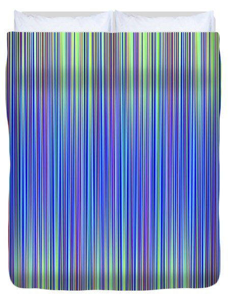 Duvet Cover featuring the digital art Lines 103 by Bruce Stanfield