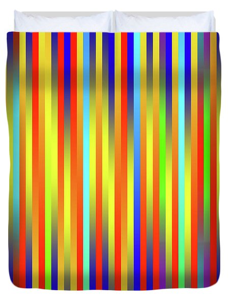 Duvet Cover featuring the digital art Lines 17 by Bruce Stanfield