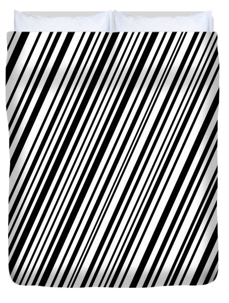 Duvet Cover featuring the digital art Lines 7 Diag by Bruce Stanfield