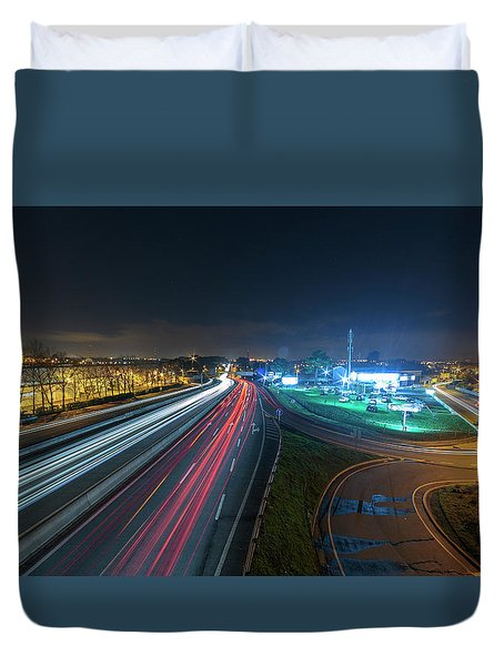 Duvet Cover featuring the photograph Lines  by Bruno Rosa