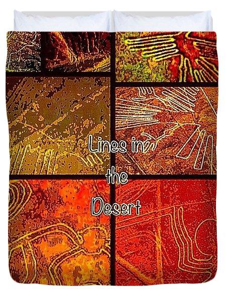 Lines In The Desert Duvet Cover
