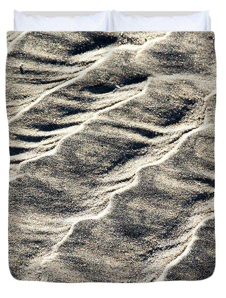 Lines On The Beach Duvet Cover