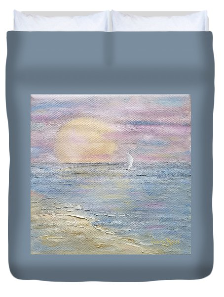 Duvet Cover featuring the painting Lingering Freedom by Judith Rhue