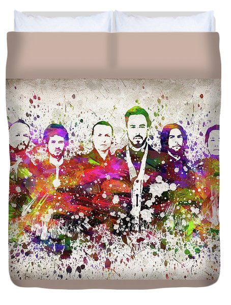 Linkin Park In Color Duvet Cover