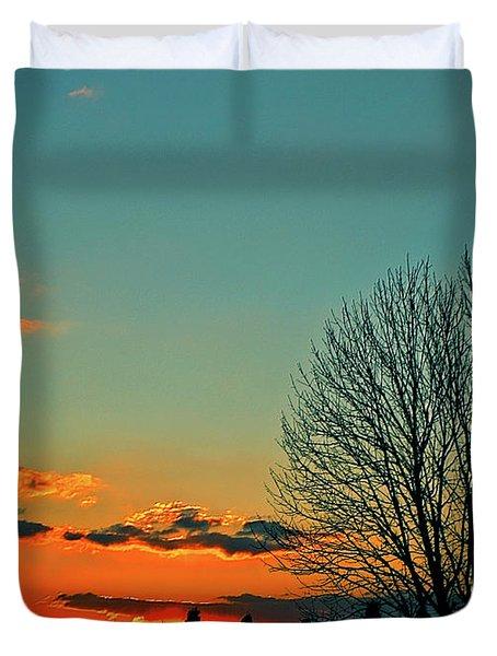 Linvilla Sunset Duvet Cover by Sandy Moulder