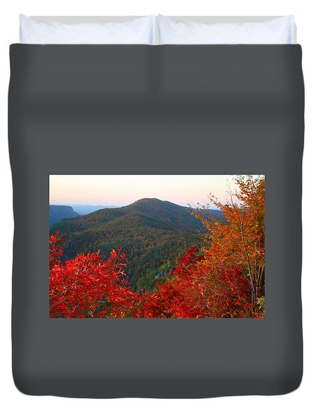Duvet Cover featuring the photograph Linville Gorge by Kathryn Meyer