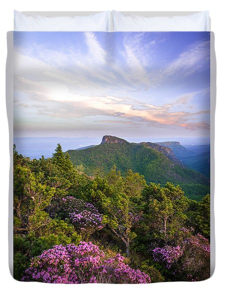 Duvet Cover featuring the photograph Linville Gorge Spring Bloom by Serge Skiba