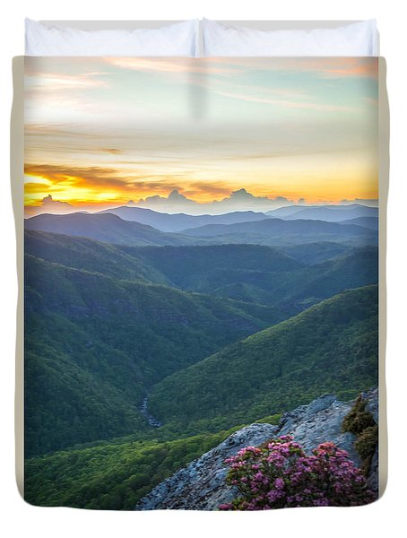 Duvet Cover featuring the photograph Linville Gorge Springtime by Serge Skiba