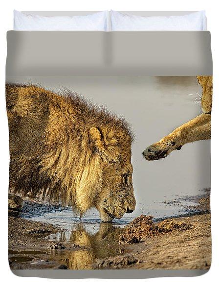 Lion Affection Duvet Cover