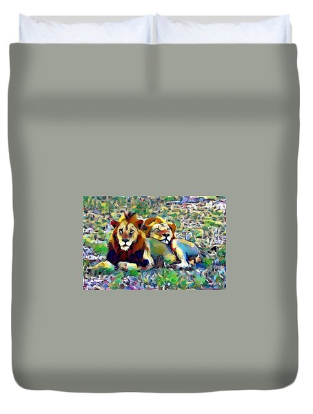 Lion Buddies Duvet Cover