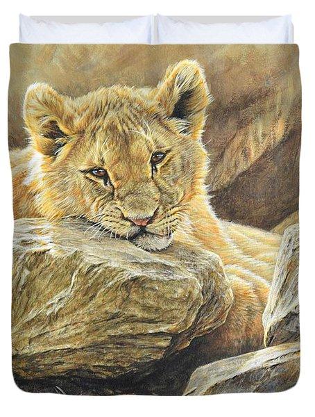 Lion Cub Study Duvet Cover
