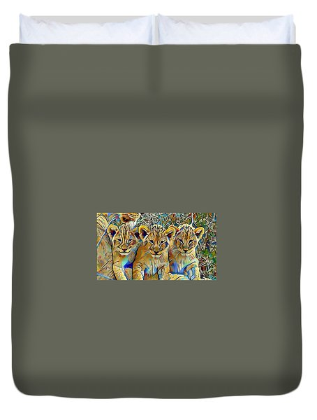 Lion Cubs Duvet Cover