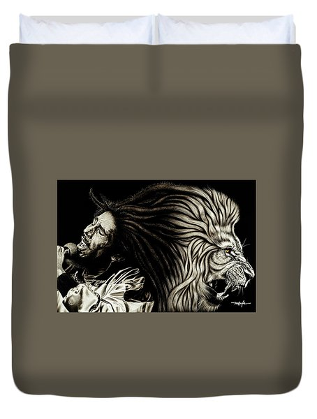 Lion Heart -bob Marley Duvet Cover