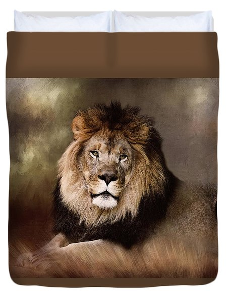 Lion King Of The Jungle Duvet Cover